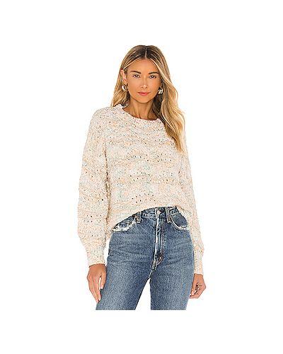Акриловый белый свитер с перфорацией Minkpink