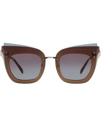 Brązowe okulary Emilio Pucci