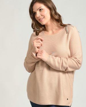 Хлопковый бежевый пуловер Monari