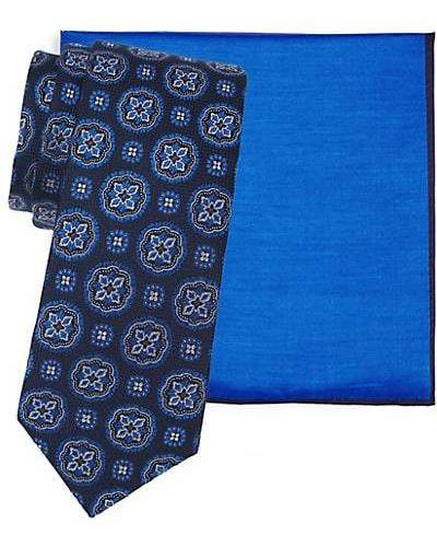Fioletowy krawat z jedwabiu z printem Ted Baker London