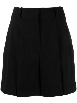 Шелковые черные с завышенной талией шорты Michael Michael Kors