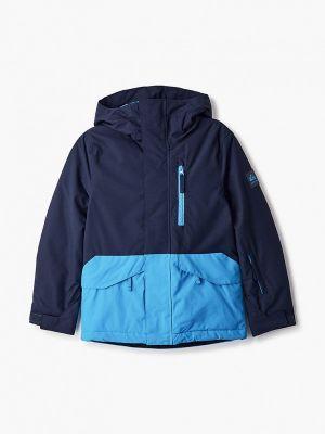 Утепленная синяя куртка горнолыжная Quiksilver