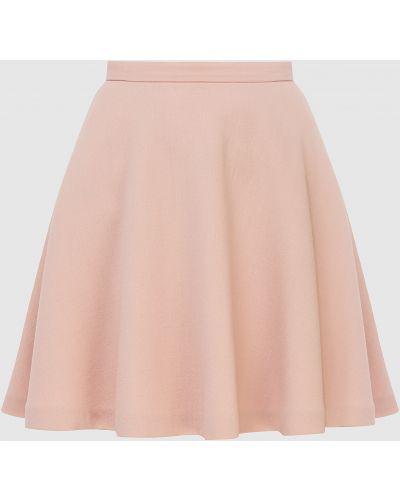 Светло-розовая шерстяная юбка мини Miu Miu