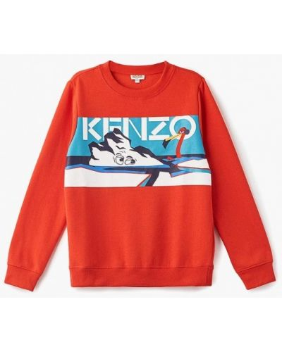 Оранжевый свитшот Kenzo