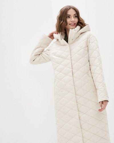 Бежевая утепленная куртка Lanicka
