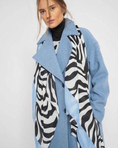 Niebieski szal przeoczenie prostokątny Orsay