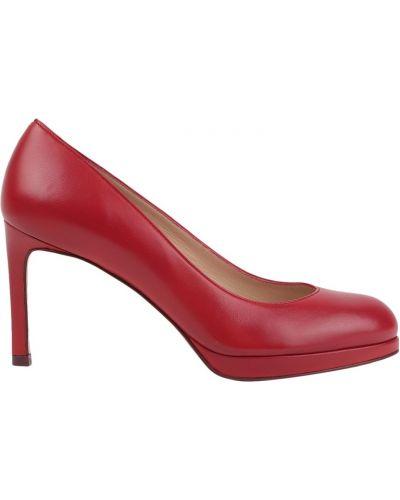 Кожаные туфли на каблуке на среднем каблуке Stuart Weitzman