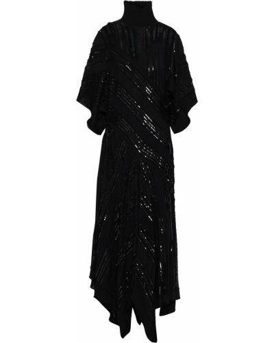Вечернее платье с вышивкой - черное Roberto Cavalli