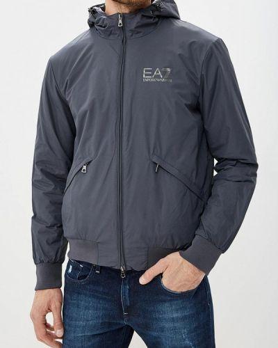 Куртка осенняя утепленная серая Ea7