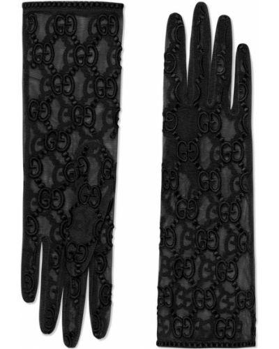 Перчатки с узором итальянский Gucci