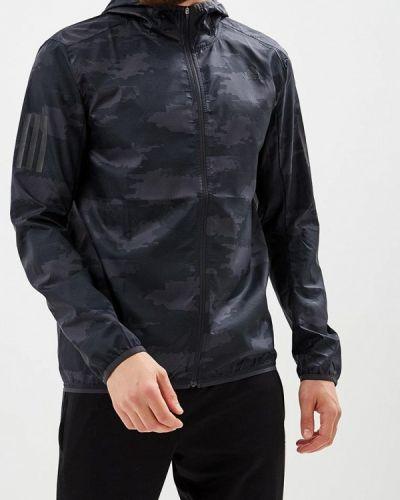 Серая куртка осенняя Adidas