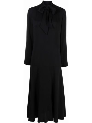 Платье миди с длинными рукавами - черное Lautre Chose