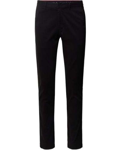 Czarne spodnie bawełniane Tommy Hilfiger