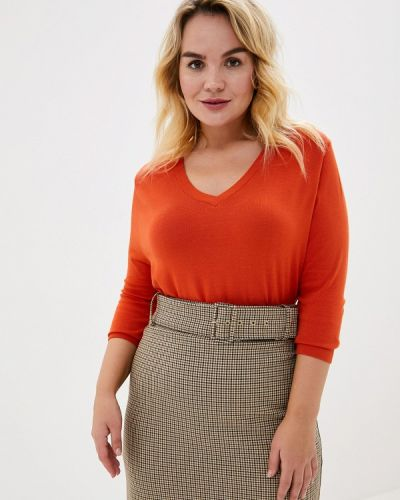 Пуловер - оранжевый Over