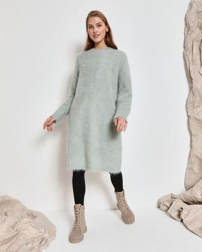Шерстяное платье миди - мятное 12storeez