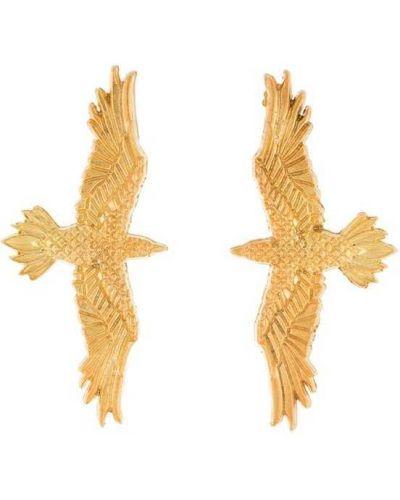 Серьги золотой Natia X Lako