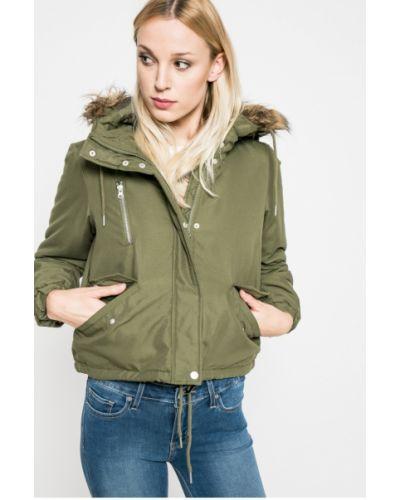 Утепленная куртка с капюшоном с мехом прямая Noisy May