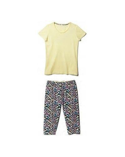 Żółta piżama bawełniana krótki rękaw Atlantic