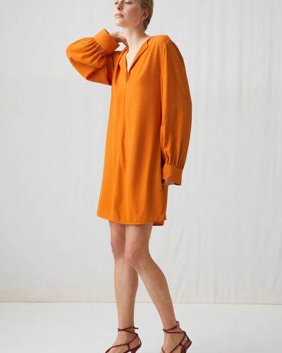 Шелковое платье макси Arket
