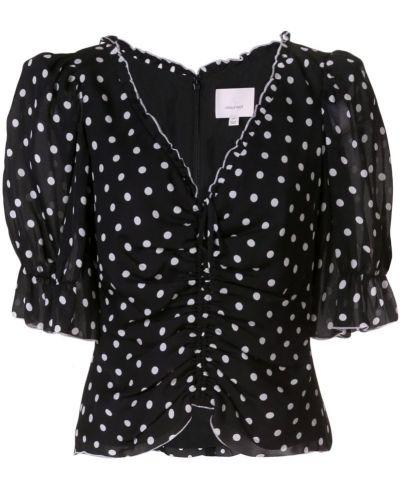 Блузка в горошек черная Cinq A Sept