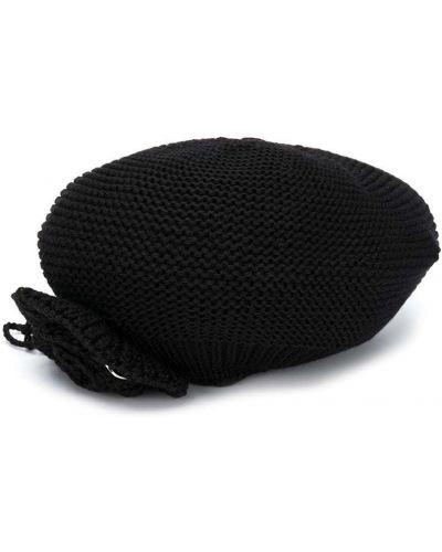 Czarny beret wełniany Monnalisa