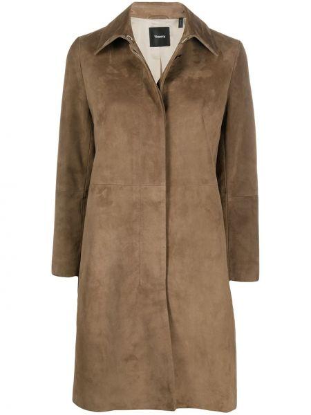Пальто классическое замшевое с воротником Theory