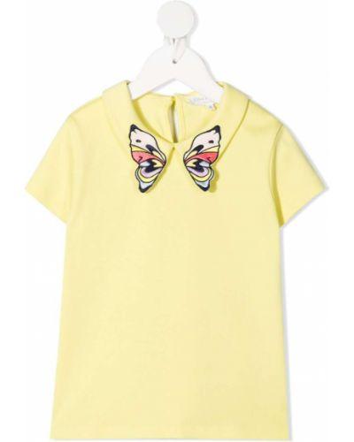 Żółta koszula krótki rękaw bawełniana Charabia