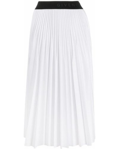 Biała spódnica ołówkowa Givenchy