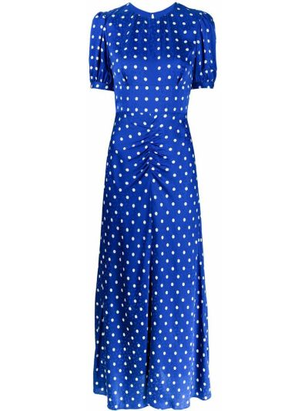 Короткое платье на пуговицах с оборками из вискозы Self-portrait