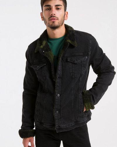 Джинсовая куртка черная Ltb