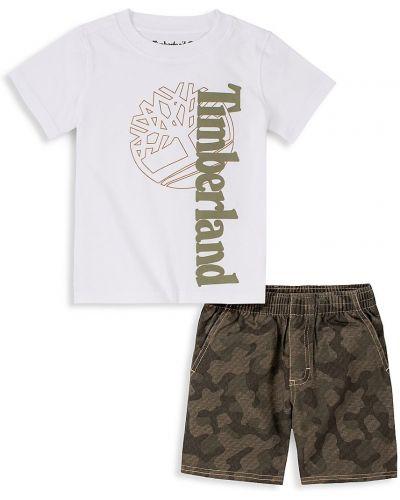 Хлопковая открытая футболка с короткими рукавами Timberland