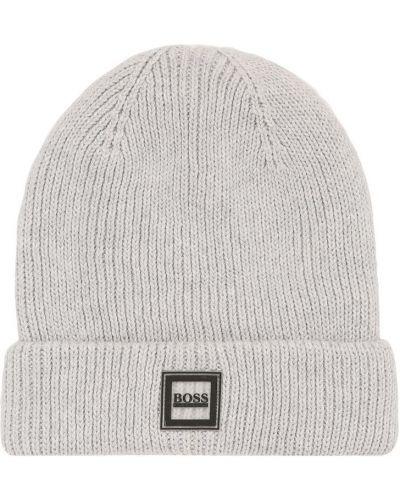 Серая шапка с логотипом Hugo Boss