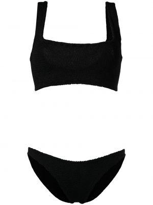Брендовые черные бикини квадратные Hunza G