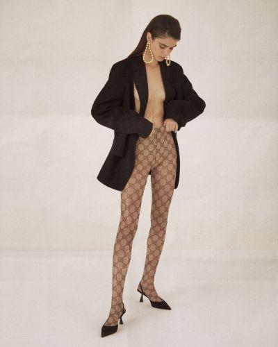 Pończochy elastyczny ażurowy Gucci