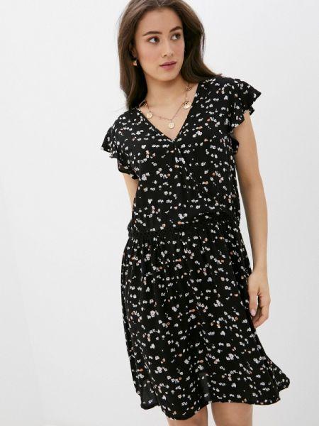 Платье прямое черное Ichi