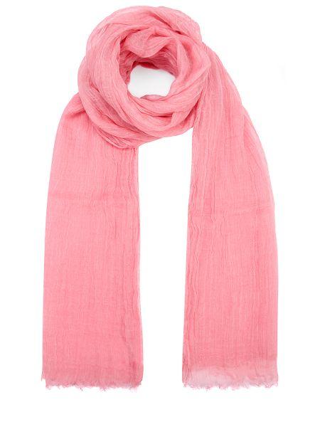 Шелковый розовый классический шарф прямоугольный Malo