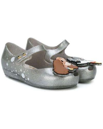 Балетки плоский серый Mini Melissa