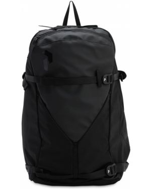 Czarny plecak klamry Peak Performance