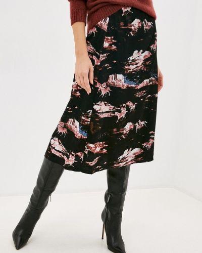 Черная прямая юбка карандаш Ichi