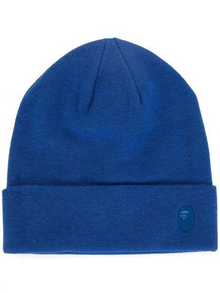 Синяя акриловая вязаная шапка бини A Bathing Ape®
