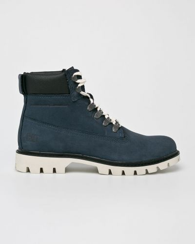 Кожаные ботинки из нубука на шнуровке Caterpillar
