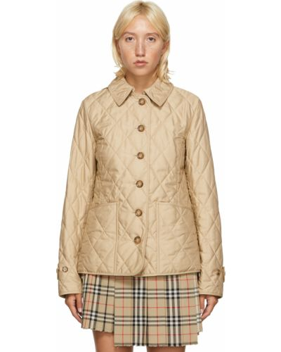Бежевая куртка на пуговицах Burberry