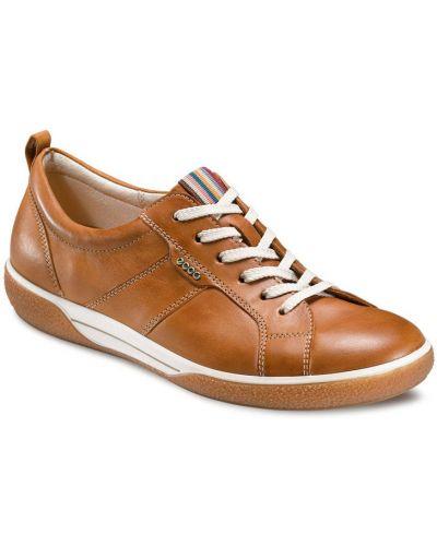 Кеды коричневый кожаные Ecco