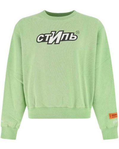 Zielona bluza dresowa Heron Preston