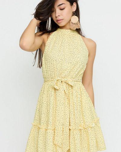 Прямое платье - желтое Cardo
