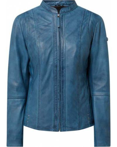 Niebieska kurtka skórzana Cabrini
