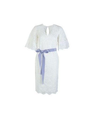 Белое хлопковое платье Vuall