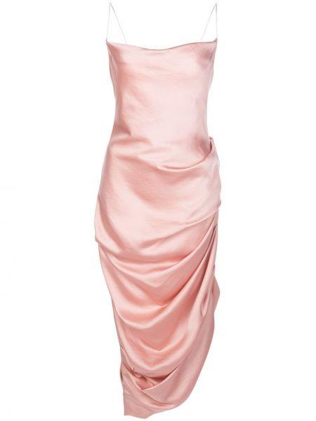 Платье миди розовое с открытой спиной Jonathan Simkhai
