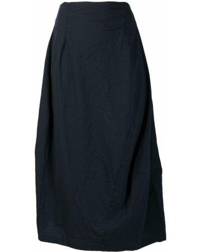 Синяя асимметричная плиссированная юбка Rundholz Black Label