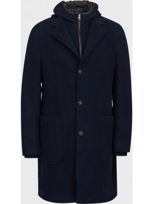 Шерстяное пальто - синее Lab. Pal Zileri
